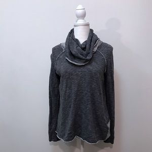 Free People Beach Cocoon Pullover Gray One Body